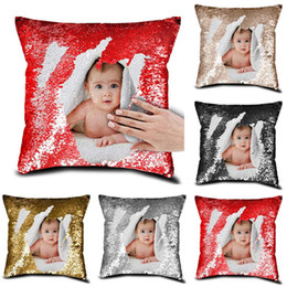 cushion pictures Coupons - (Private Customized) DIY Sequin Cushion Cover Custom Personalized Printed Pictures On The Pillow Case Home Decor