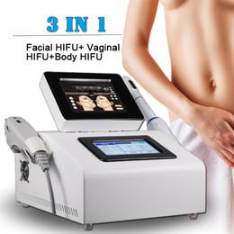 Equipos de belleza facial delgada online-2019 NUEVO 3 en 1 máquina de hifu vaginal máquina de rejuvenecimiento facial de rejuvenecimiento de la piel que adelgaza el equipo del salón de belleza