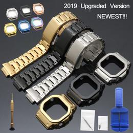 dw assistir faixas Desconto Dw 5600 Strap Watch Bezel 5600 Gwm5610 Gw5000 Aço Inoxidável Pulseira de Aço Caso Quadro Gshock Pulseira Ferramentas de Reparo SH190729