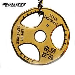 Kettenlenkräder online-oulai777 Männer Halskette Lenkrad Anhängern Großhandel Edelstahl Hip-Hop-Halsketten-Kette auf dem Hals männlichen Accessoires