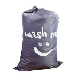 Bolsa de Luandry de gran capacidad Bolsa de lavado de poliéster Bolsa de ropa sucia Con cordón desde fabricantes