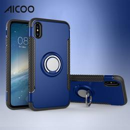 anello caso samsung Sconti Aicoo Ring Supporto per telefono per auto Custodia per cavalletto Custodia magnetica per cellulare per iPhone XS MAX X 8 Plus Samsung S10 5G S9 Huawei P30 Pro Oneplus OPP