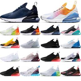2019 sapatilhas com mola Nike air max 270 Com meias 2019 almofada de ar Sapatilha marrom VOL Laranja BARELY ROSE estrelas Azul Marinho Triplo Preto respirável Sapatos de corrida mens formadores 36-45