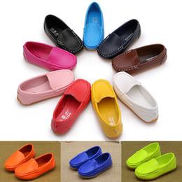 2019 оптовые платья для девочек 12 Цветов Все Размеры 21-36 Дети Повседневные Стили Мальчики Девочки Обувь Мягкие Удобные Мокасины Скольжения Детская обувь дизайнерская обувь KJY608