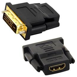 corea del tabacco Sconti 24 + 1 DVI Maschio a HDMI Female Converter Adattatore da HDMI a DVI Supporto 1080P per HDTV LCD 100 pezzi Cavi per computer Connettori