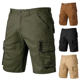 2020 pantalones cortos cargo capri hombres 2019 Verano de Carga hombres de los cortocircuitos ocasionales del algodón de camuflaje Sweatpants cortos cinco pantalones pantalones cortos cargo capri hombres baratos