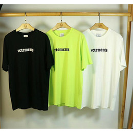 2020 t-shirts broderie patches 2020 T-shirt New Vetements Big Patch Tag Casual broderie hommes Wome en vrac Vert Noir Blanc manches courtes T Vetements-shirts T200330 t-shirts broderie patches pas cher
