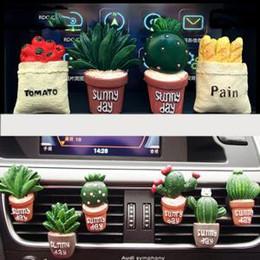 2019 parfums de voiture Clip de parfum de voiture cactus climatiseur 3D Simulation Plant Outlet Decor désodorisant parfum parfum Auto voiture frais décoration fournitures FFA1594 parfums de voiture pas cher