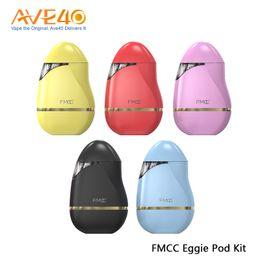 яйца Скидка FMCC Eggie Pod Kit 2.5 мл емкость 1.0 ом сопротивление встроенный 500mAh батареи яйцо форма дизайн электронная сигарета комплекты 100% оригинал