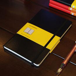2019 livro em capa dura Clássico Escritório Escola Hardcover Leather Band Planner Notebook Papelaria, multa Em Branco, linha, gráfico, pontilhada Jornal Note Book, a5a6 T8190701 livro em capa dura barato