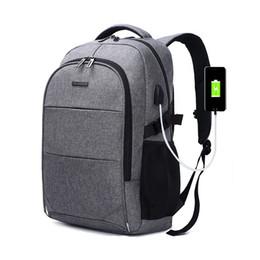 Mochila masculina on-line-Mochila Laptop de 15.6 Polegada USB Dos Homens de Carregamento Back Pack para Adolescente Moda Ofxord À Prova D 'Água Mochilas Escolares Mochila de Viagem Masculino