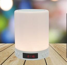 Многоцветные динамики онлайн-Многоцветный ночной свет Bluetooth-колонки Портативный музыкальный динамик Smart TouchControl Цвет светодиодный прикроватный столик Громкая связь TF карта