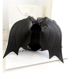 Крылатые сумочки онлайн-Дизайнерский бренд Bat Wing Рюкзак Стеганый Хеллоуин Сумочка с двумя ремешками Сумка Кошелек-монстр с рисунком животных Рюкзак для женщин - AS01