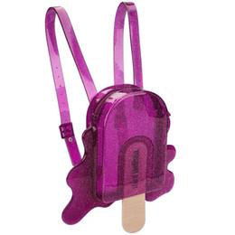 Melissa Borsa originale Cute Popsicle Zaino Ragazze Cute Solid Bag 2019 New Girl Jelly Sandals 3 colori da