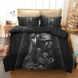 moto cartone animato Sconti Skull Beauty Set biancheria da letto per moto 2 / 3pcs con federa Twin Queen king Size per biancheria per la casa