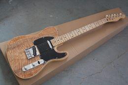 gitarren telecaster Rabatt Großhandel neuen Stil Telecastergitarre Ameican Standard Tele Braunrot E-Gitarre mit goldenen