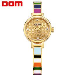 Relógio de pulso de casamento on-line-Brand New Pulseira Relógios Mulher Colorida Stainlness Aço Moda Terno À Prova D 'Água para o Trabalho Data de Casamento Melhor Presente Relógio de Pulso de Alta Qualidade