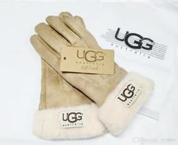 guanti meccanici xl Sconti Guanti di disegno delle donne per l'inverno e l'autunno Cashmere Guanti Guanti con bella sfera della pelliccia all'aperto Sport invernali caldi guanti G3232