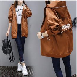 035100d10e3 popular windbreaker coat Autumn Winter New Large size Hooded trench coat  for women Long sleeve Korea Ladies student Tops 2175