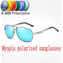 9e10042608 2019 Custom Made Myopia Minus Prescription Polarized Lens Sunglasses Men  Designer Vintage Driving Sun Glasses Male Goggles FML