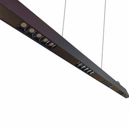 Schwarzes 40W 4ft verschobenes lineares LED-Licht, Suspendierungs-Beleuchtungskörper, Blendschutzlinse, 0-10V dimmbar, TÜV-Fahrer von Fabrikanten