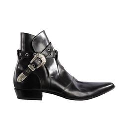 2019 homens da boina do cowboy Botas de fivela de motoqueiro botas de couro macio Mens Western tamanho grande 46 botas de botas de vaqueiro homens da boina do cowboy barato