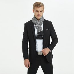 2018 moda outono e inverno Plaid Silk Scarf Homens bufanda hombre echarpe homme de Fornecedores de shemagh tactical military scarf wholesale