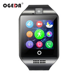digital touch watches for men Coupons - Smart Watch Q18 Passometer Smart Clock with Touch Screen Camera TF card Bluetooth Smartwatch for Android IOS Phone Men WatchNote: