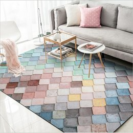 AOVOLL Polyester 3D Carpet Large Rug Color Living Room Bedroom Kitchen  Floor Mat Rugs and Carpets for Home Living Room
