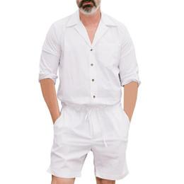 66fabf7274 Camisa de hombre de alta calidad de los hombres de feitong 2019 Verano  Nuevo estilo Moda de color puro Ropa de gran tamaño Botón Mono camisa blanca    F3