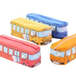 2019 idées décors mariage Étudiants Enfants Autobus Scolaire Étui à crayons Papeterie Sac Organisateur Pochette Maquillage Sac Titulaire pour Femmes Enfants Fille