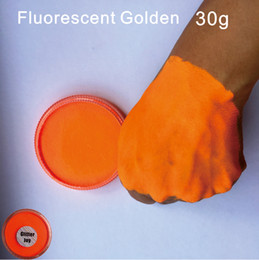 2019 на водной основе FPNg Fluorescent Golden Color 30g/pc Water Based Face Body Fluorescent UV Neon Body Paint Pigment in Beauty Makeup Tool дешево на водной основе