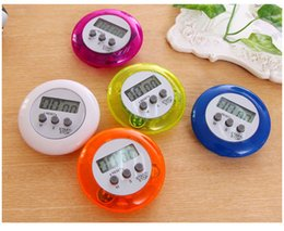 Timer di cottura Allarme digitale Timer da cucina Gadget Mini Sveglio Display LCD rotondo Strumenti conto alla rovescia Batteria installata con clip da allenatore di forma fisica fornitori
