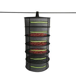 Più asciutto erba net online-4/6 Livelli di essiccazione netto pieghevoli pesca netto appeso carrello pieghevole Dry Rack Bag Mesh Dryer per le erbe Fiori Piante Buds
