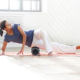 Rullo pilota di schiuma online-Yoga della schiuma del rullo di schiuma di forma fisica per il massaggiatore del tessuto profondo che allunga Yoga di forma fisica che allevia l'equilibrio della colonna di Pilates del muscolo Bar33 * 12cm