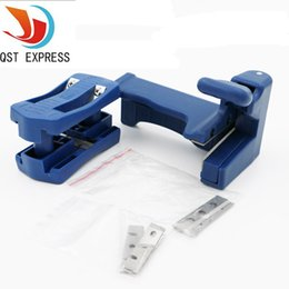 edge trimmers Promo Codes - carpenter set QST EXPRESS Double Edge Trimmer Banding Machine Set Wood Head and Tail Trimming Carpenter Hardware