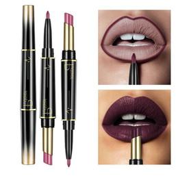 Batom duplo on-line-Wateproof Duplo Final Matte Batom Longa Duração Batons Brilho Gloss Maquiagem Cosméticos Lip Liner 16 cores LLA324