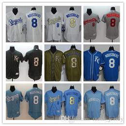 43a1f3e03 custom Men women youth Kansas City 2019 Royals Jersey  8 Mike   Moustakas Home  Blue White Grey Baseball Jerseys