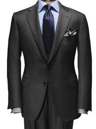 traje moderno para hombres Rebajas 2019 Dark Grey Nailhead Suit es un esencial moderno para el uso durante todo el año por encargo Slim Fit trajes para hombres Trajes de negocios Los más vendidos
