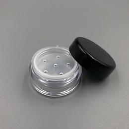 Argentina Claro 1G 1ML Caja de Contenedores de Maquillaje de Polvo de Hojaldre de Plástico Frascos Cosméticos Polvo Facial Caja de Almacenamiento de Colorete Con Tapas de Tamiz Suministro