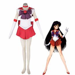 destino ficar noite jogo Desconto Athemis Anime Sailor Moon Rei Hino / Sailor Cosplay Mars costume vestido de alta qualidade