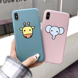 2019 giraffe telefon fällen Netter Karikatur-Kasten für iPhone XS maximales XR XS 6 6S 7 8 plus Ganzkörpergiraffen-Elefant-weiches TPU-Telefon-rückseitige Abdeckungs-Fall-Geschenk günstig giraffe telefon fällen