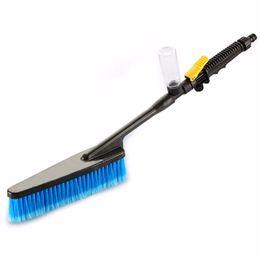 Garrafa de espuma azul on-line-New1pc Azul Car Wash Brush Auto Retrátil Longo Lidar Com Interruptor De Fluxo De Água Garrafa de Espuma de Carro Escova De Limpeza