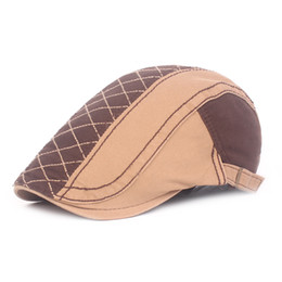 b16bdf580119 High Quality Unisex Men Cotton Plaid Ivy Cap Newsboy Boy Berets School  Beret Flat Cap Outdoor Sun Visor Cap Sunhat