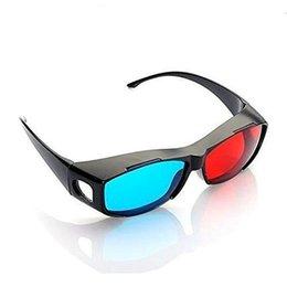 Черная рамка Универсальные 3D Пластиковые очки / cuculos / Red Blue Cyan 3D стекло Анаглиф 3D Киноигра DVD Vision / Cinema от Поставщики смотреть очки оптом