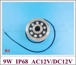 Alta potencia 9 * 1W 9W LED luz subacuática LED luz de la piscina fuente de luz LED fuente 9W IP68 AC12V entrada desde fabricantes