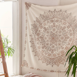prints wall hangings Promo Codes - Tapestry Mandala Hippie Bohemian Wall Hanging Flower Tapestry Wall Hanging Decor for Living Room Bedroom Tapestries
