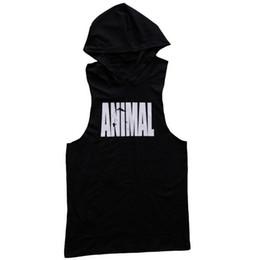 GYM NOVITÀ Man fashion Fitness wear movimento treno Run Summer Sleeveless ANIMAL print vest Cap vest da swing yoga anti gravità fornitori
