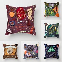 silberne sofa-kissenbezüge Rabatt neue Harry Potter Kissen bedecken der Feuerkelch Hug Pillowcase Sofa Büro Waist Kissenbezug Kopfkissenbezug 45 * 45cmBedding SuppliesT2I5596