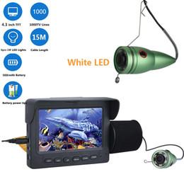 2019 batteries de vision nocturne PDDHKK 4.3inch Poissons Finder avec pare-soleil 6pcs White LED Night Vision Caméra de pêche sous-marine 1000TVL État de la batterie 4 heures batteries de vision nocturne pas cher